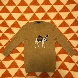 JCrew Camel on Camel Colored Wool Cashmere Blend